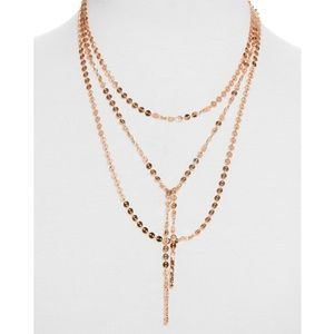BaubleBar Jewelry - Baublebar Rose Gold Amber Lariat Necklace